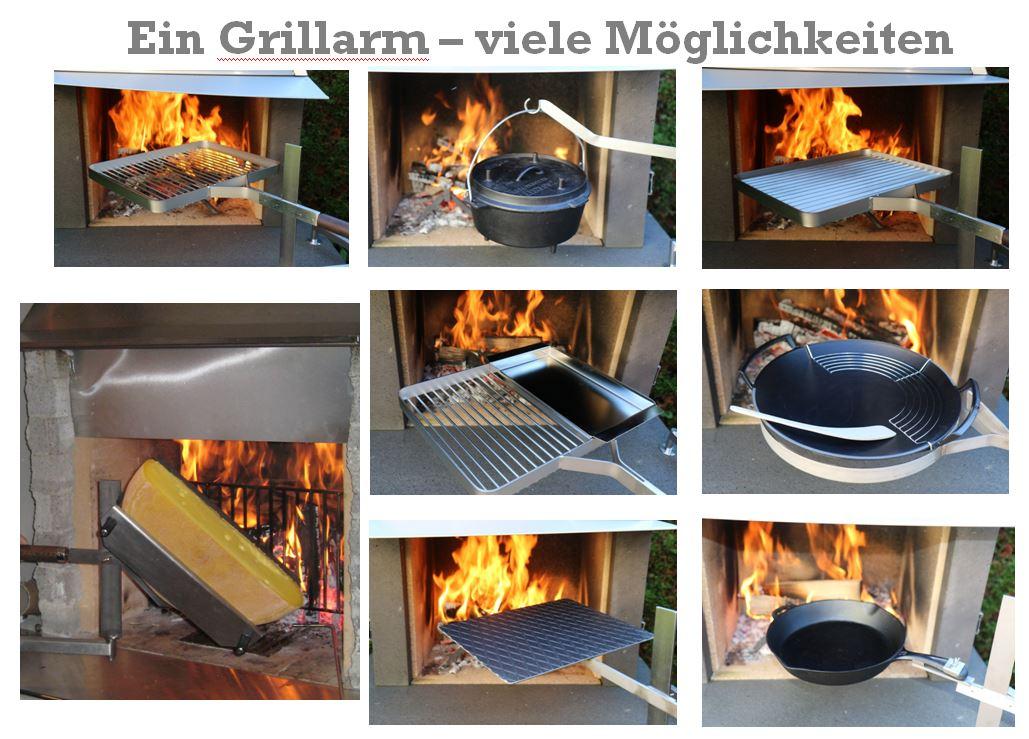 Grillieren mit dem Schwenkarm